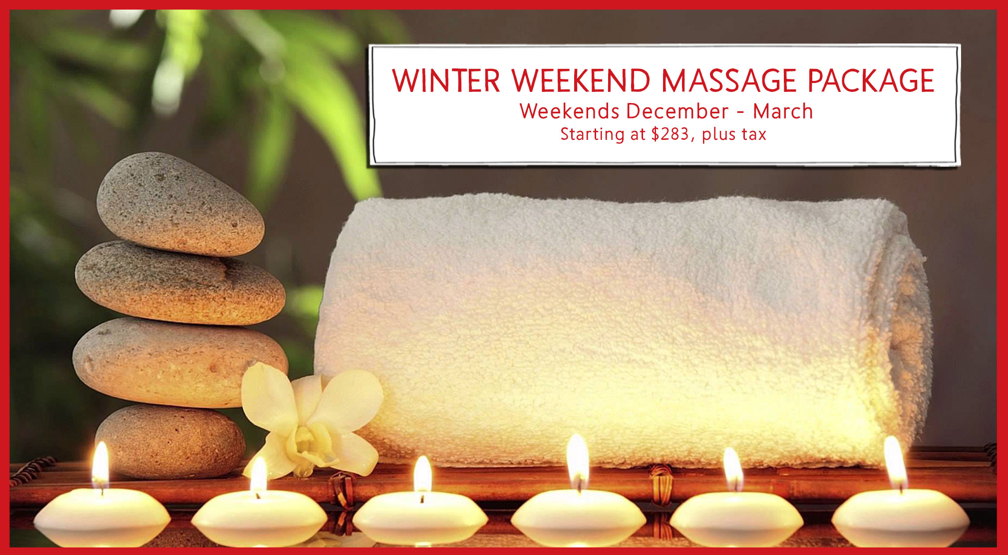 Winter Weekend Massage Package at Race Brook Lodge