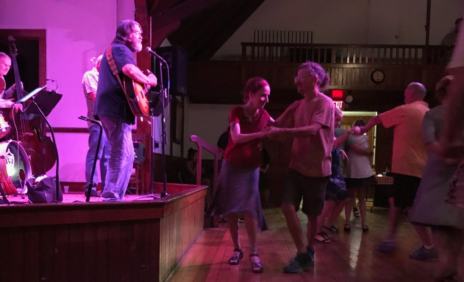 Old Tone Native playing Swing Night at Dewey Hall