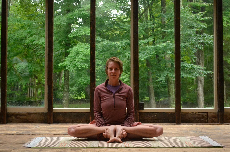 NicoleJaquis yoga instructor at Race Brook Lodge