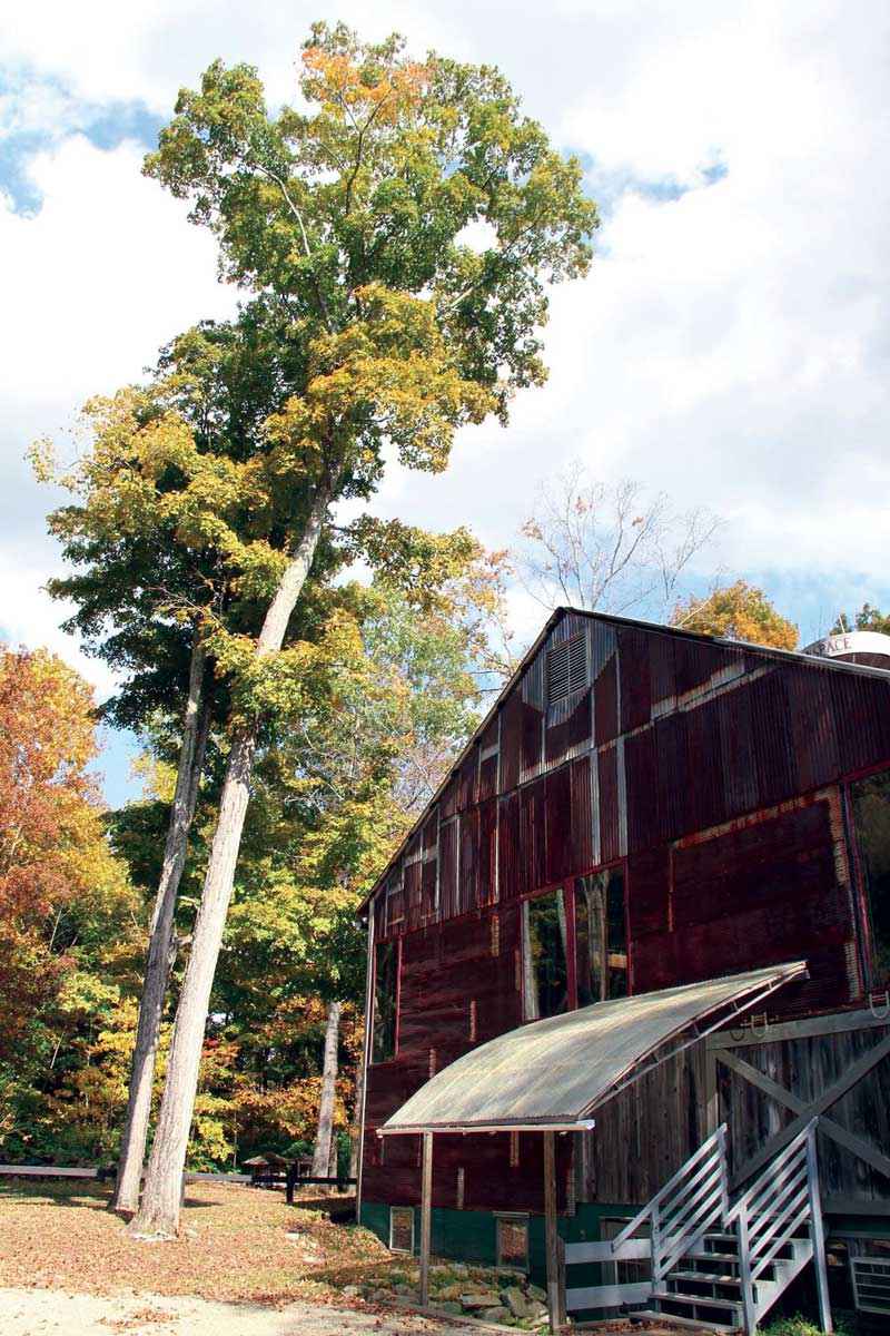 The Barn at Race Brook Lodge in Autumn