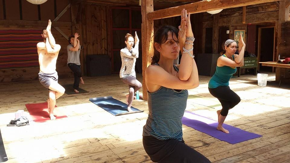 Do yoga in our barn.