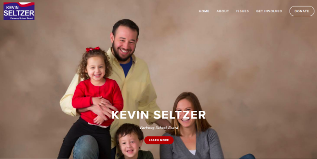 Kevin Seltzer's homepage. He removed his website after winning his election.