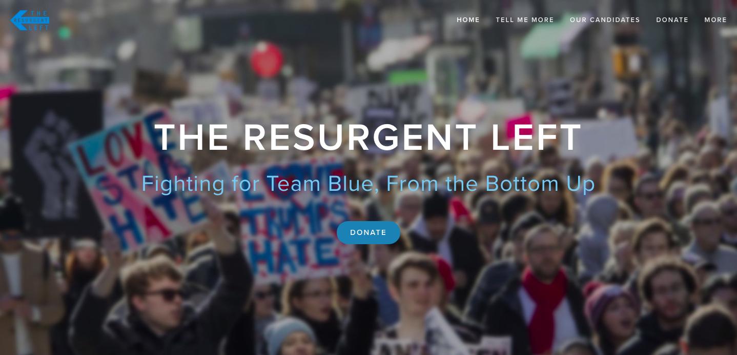 The Resurgent Left's homepage.