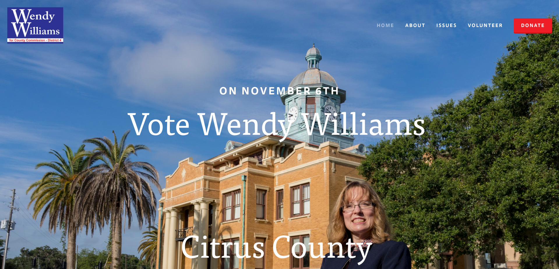 Home page for Wendy Williams' website. She removed her site after her election.