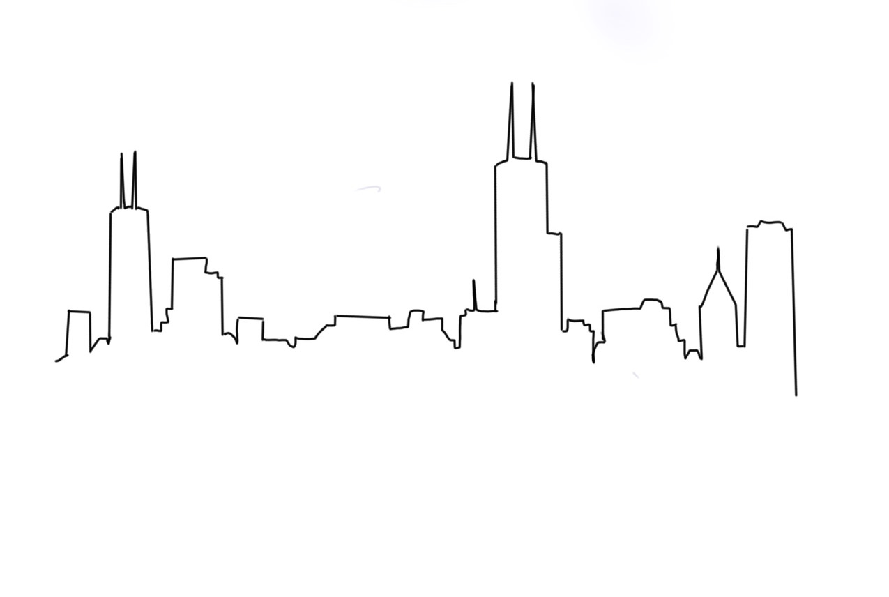 Option 3: Chicago Skyline Line Work