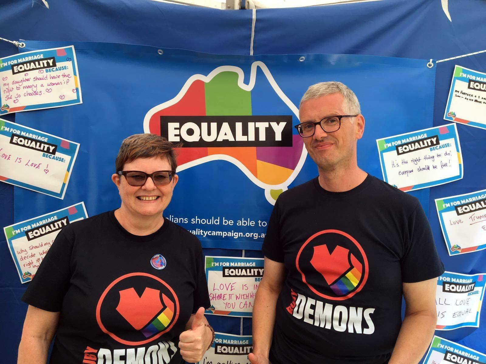 Katie and Angus support equal marriage
