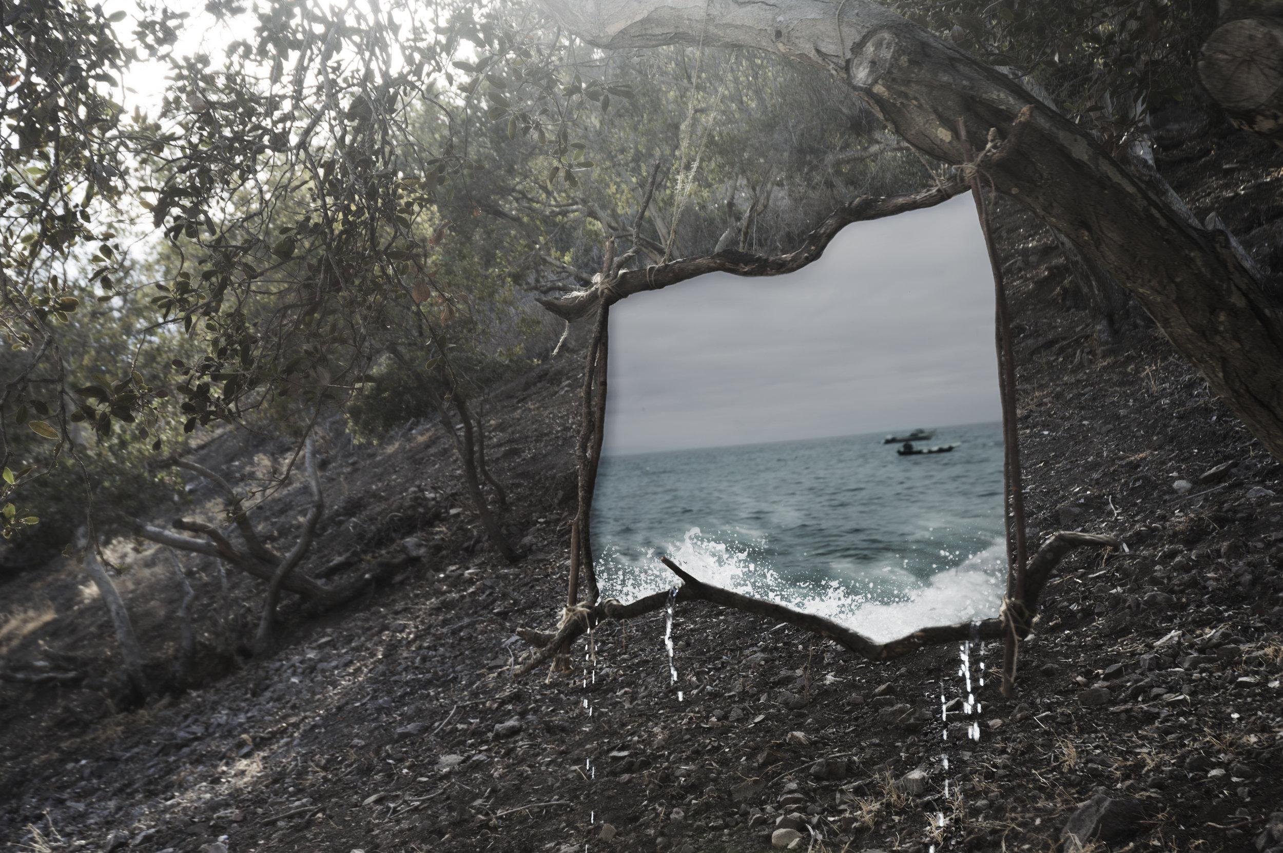 """Frame Between Worlds""  Photo composite October 2016"
