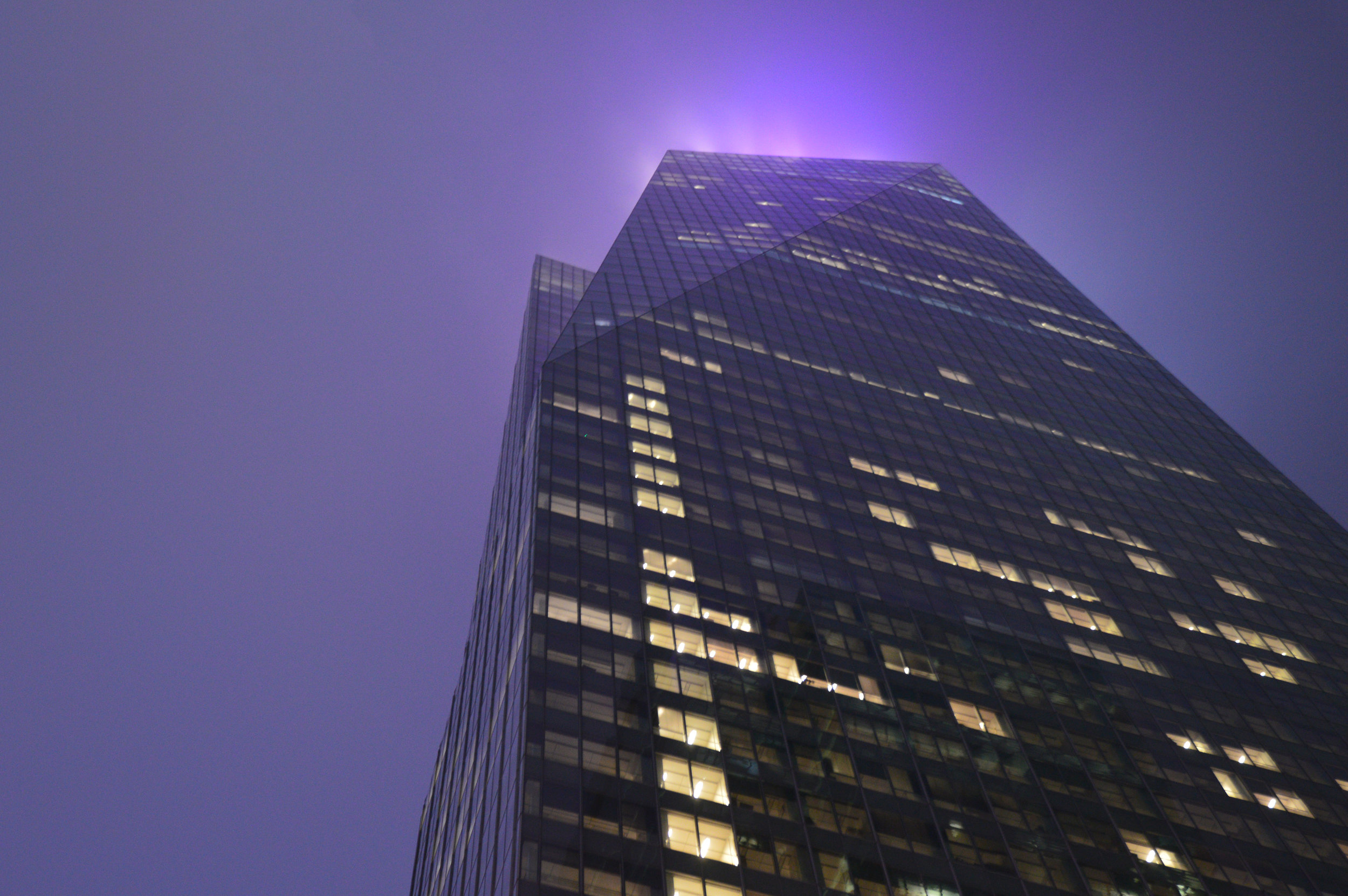 """""""In the Purple""""  Manhatten, NY Minor photo edit (no color change) June 2017"""