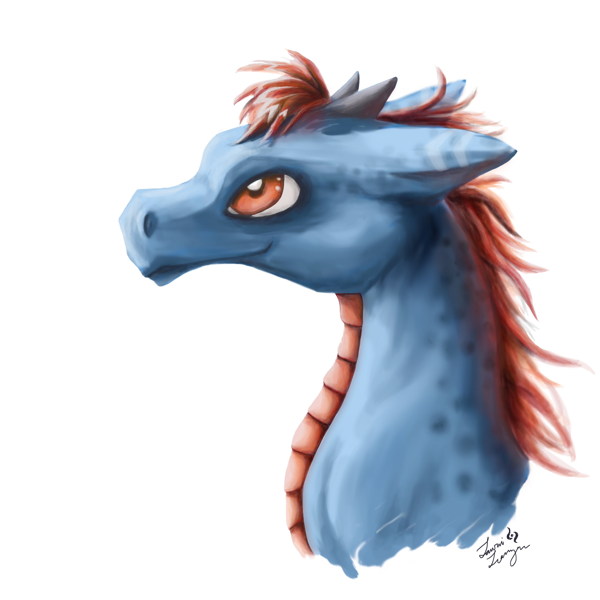"""Dragon #1""  Digital painting in Photoshop August 2017"
