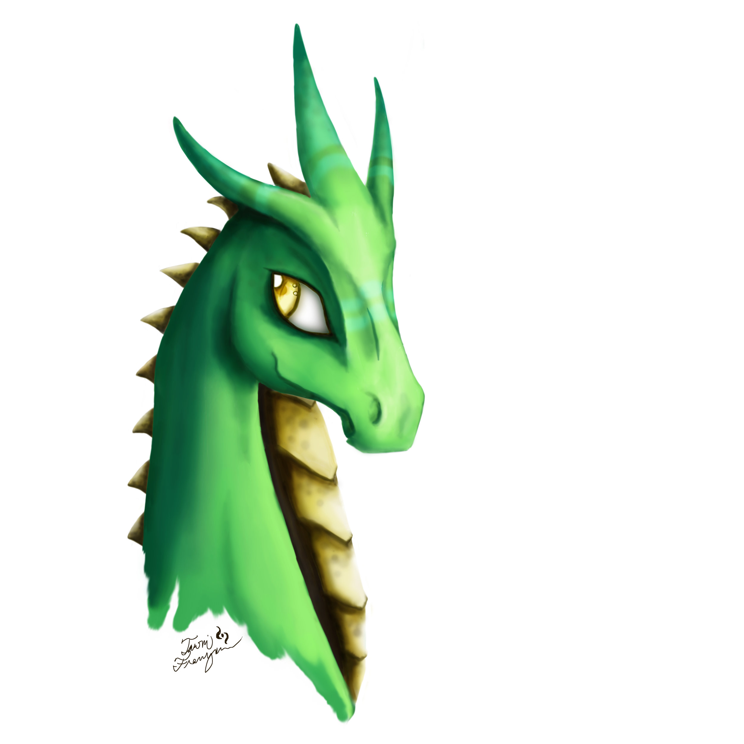 """Dragon #2""  Digital painting in Photoshop August 2017"