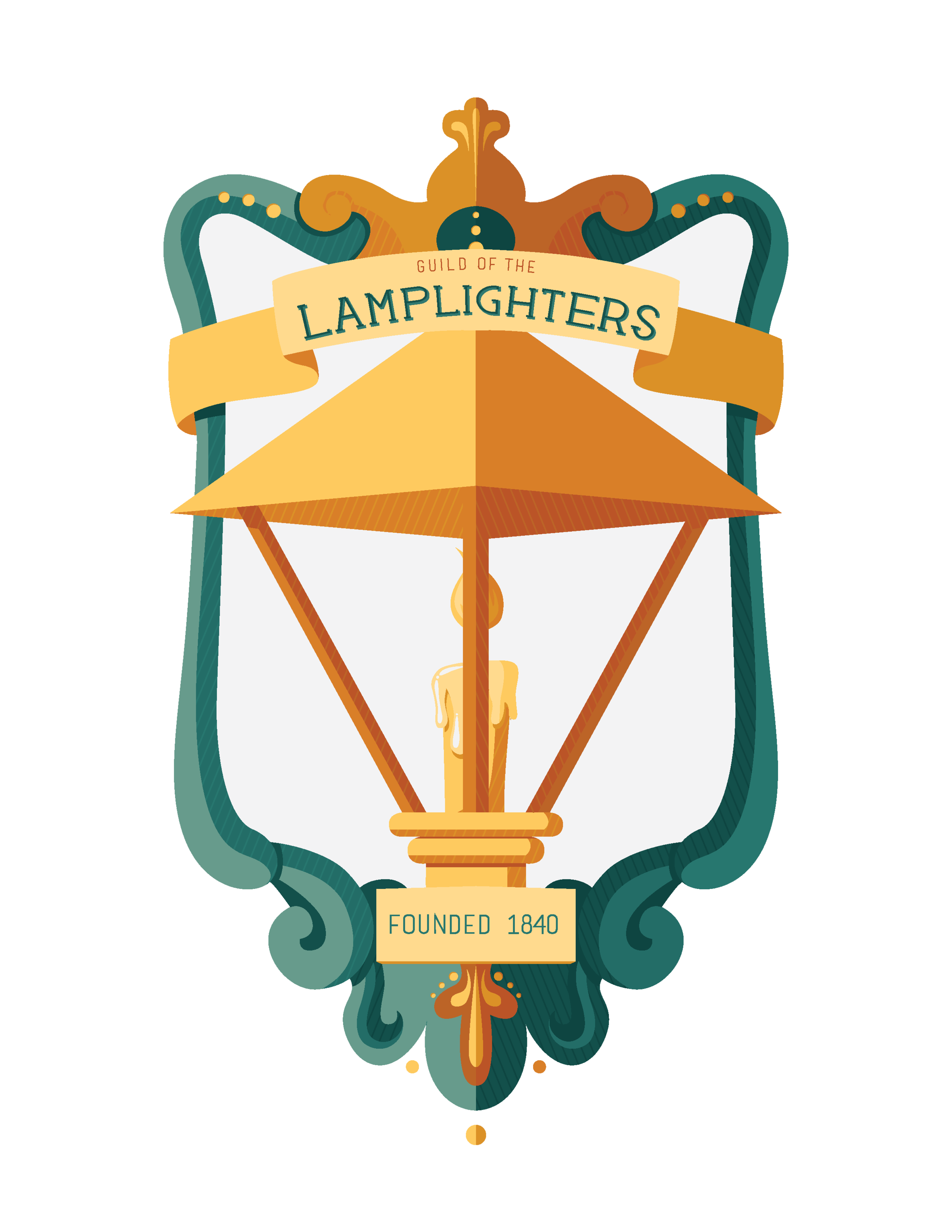 """Guild of the Lamplighters"" illustrated badge October 2017"