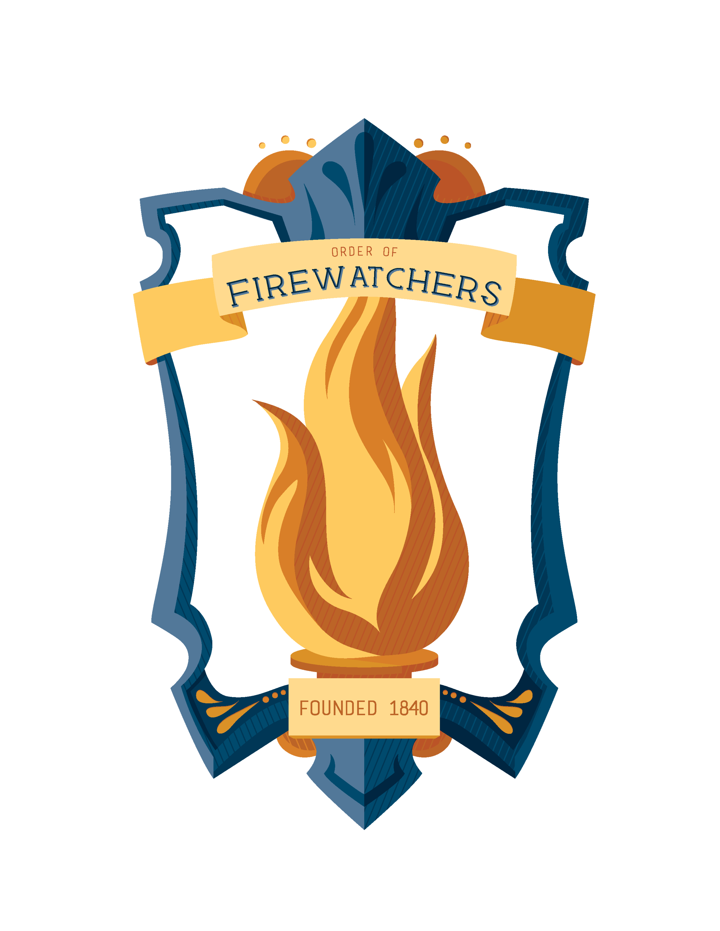 """Order of Firewatchers"" illustrated badge October 2017"