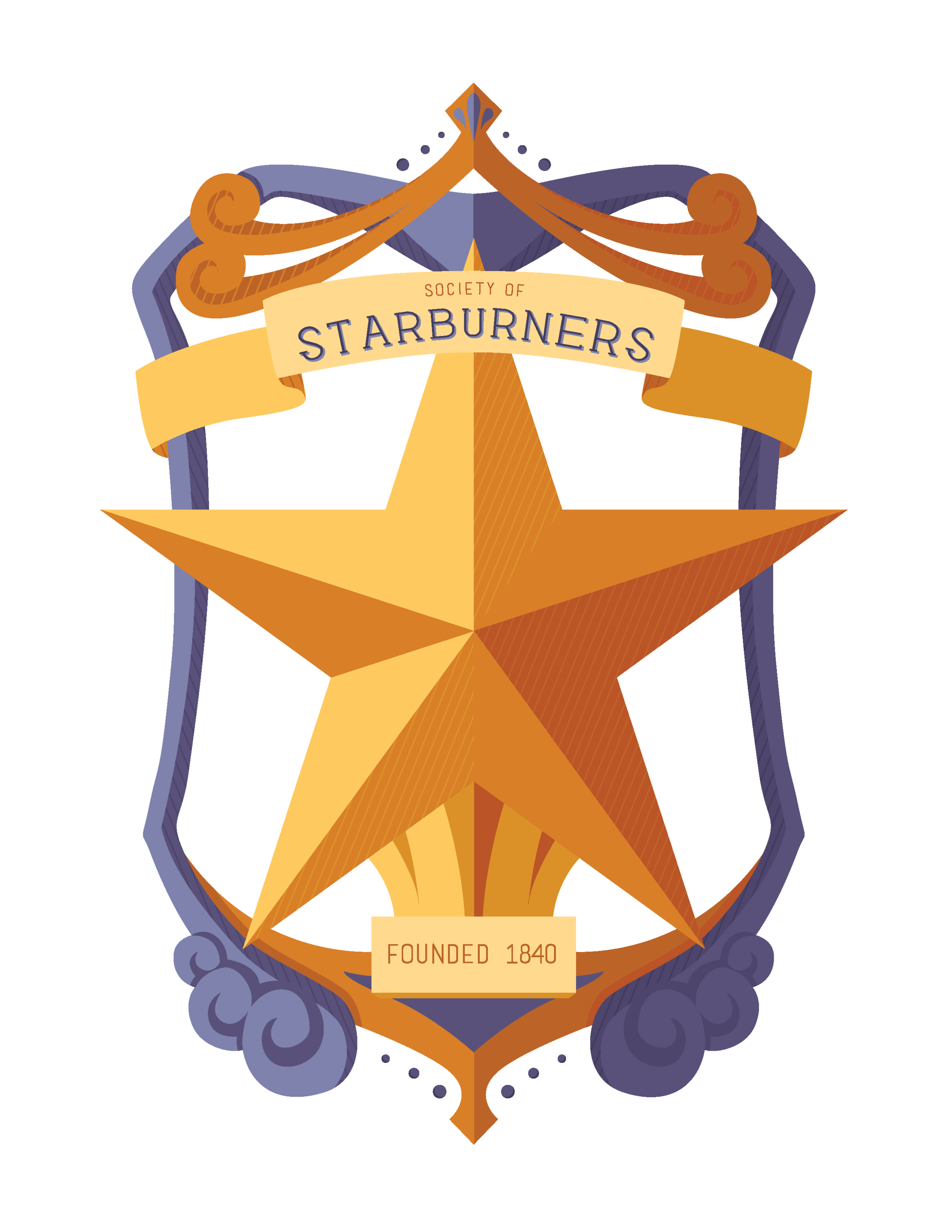 """Society of Starburners"" illustrated badge October 2017"