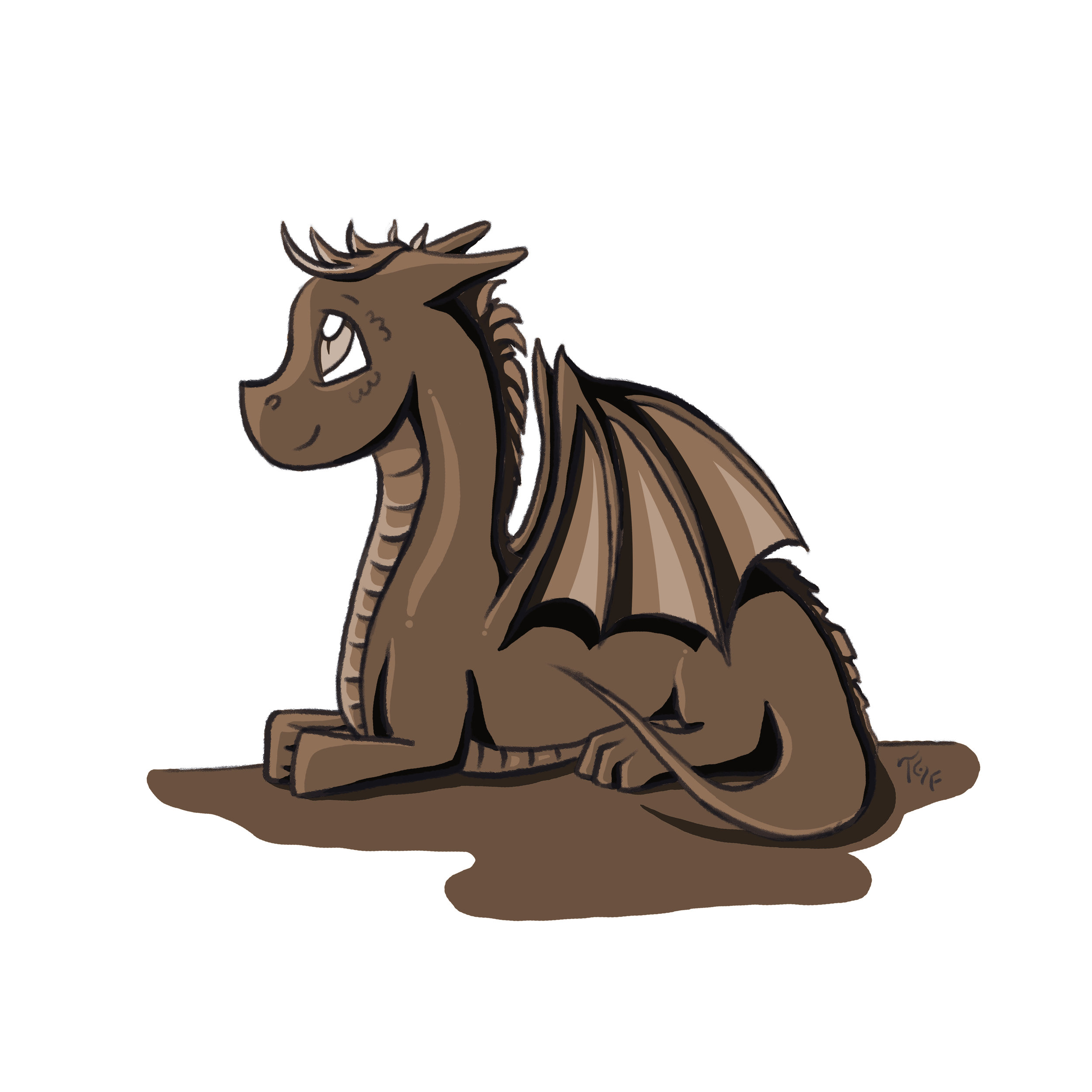 Sepia Dragon