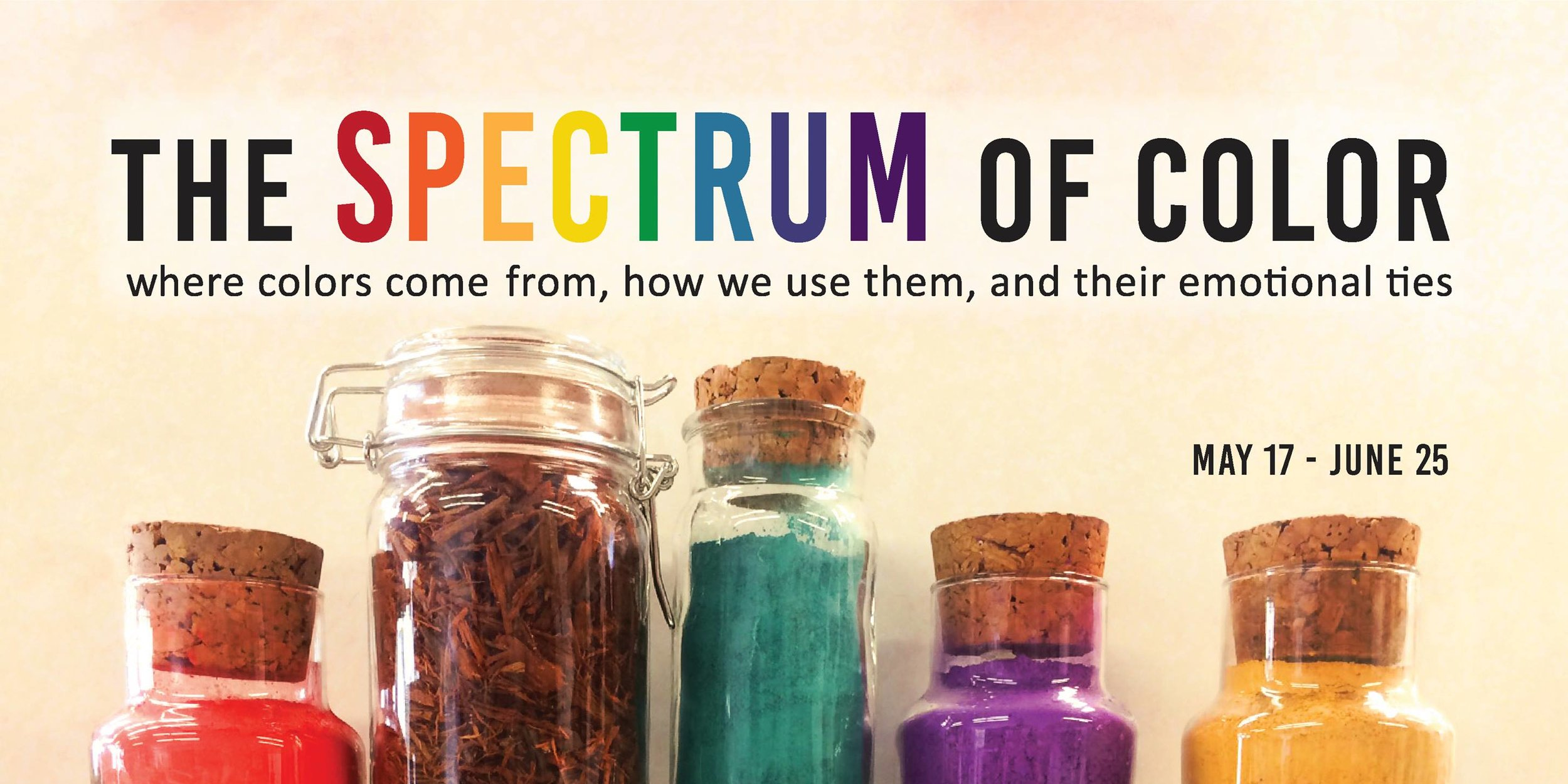 "Banner for ""The Spectrum of Color"" art gallery  May-June 2016"