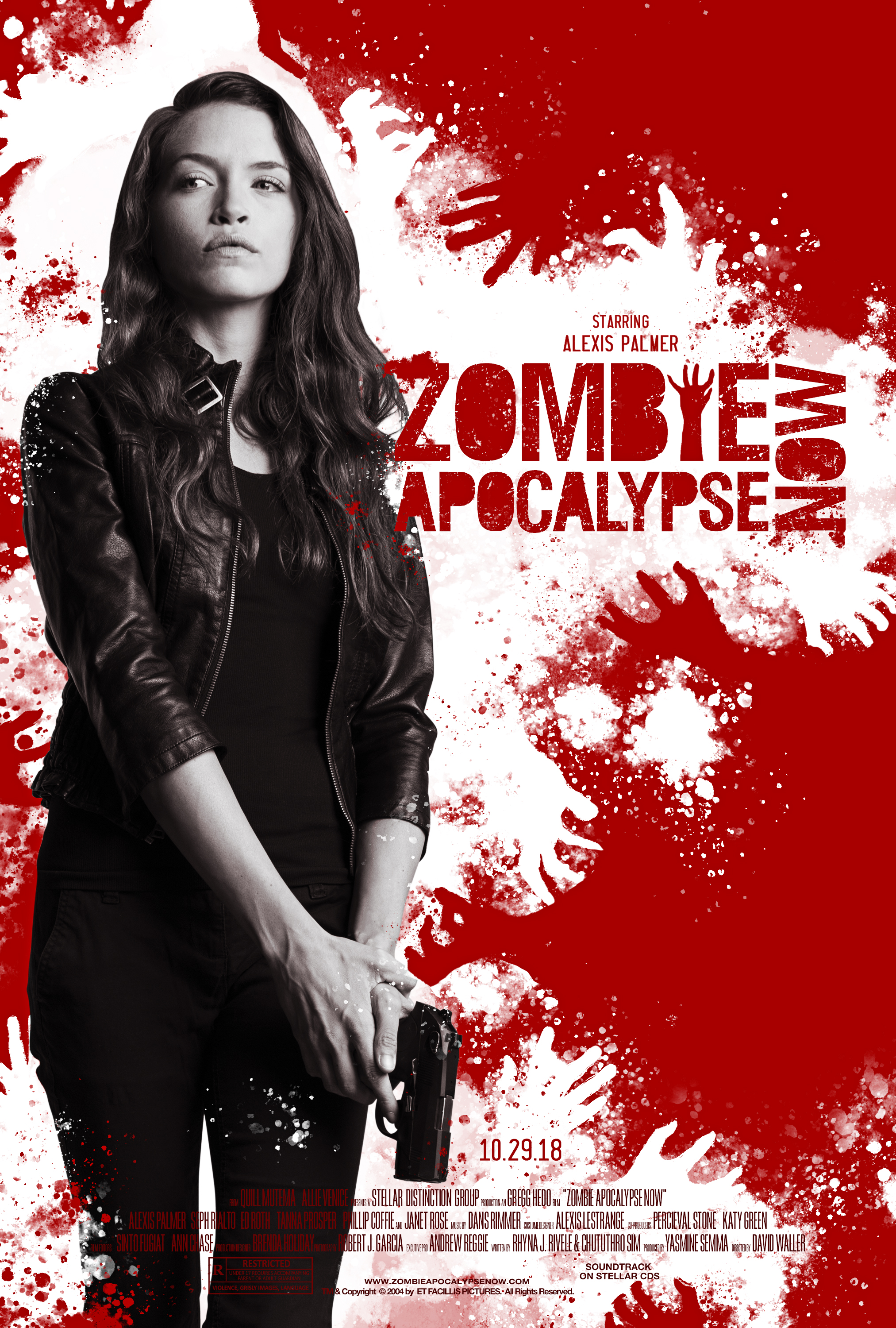 """""""Zombie Apocalypse Now"""" (Style 2)  2 of 3 variant movie posters September 2018"""