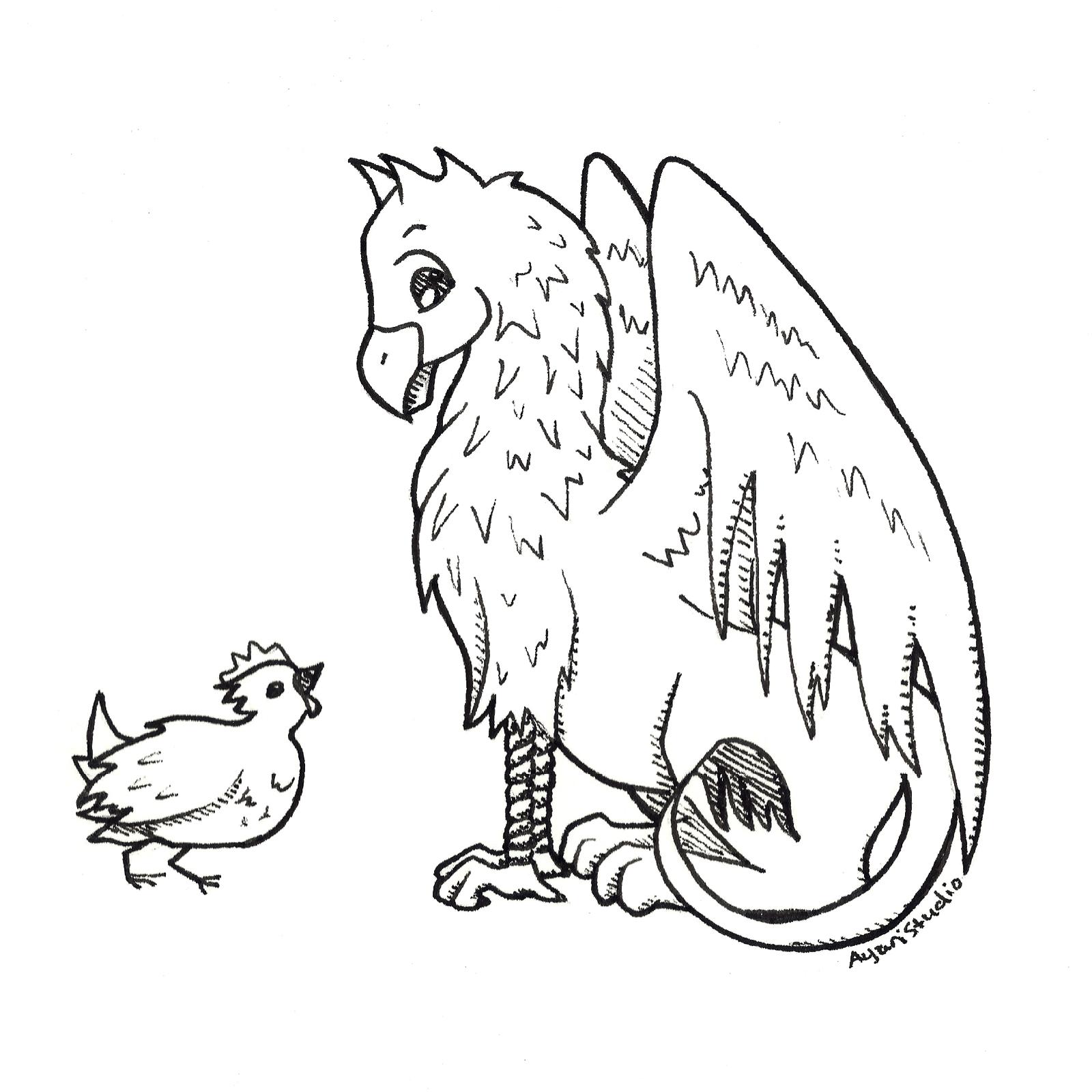 """Day 5 - """"Chicken : Griffin"""""""
