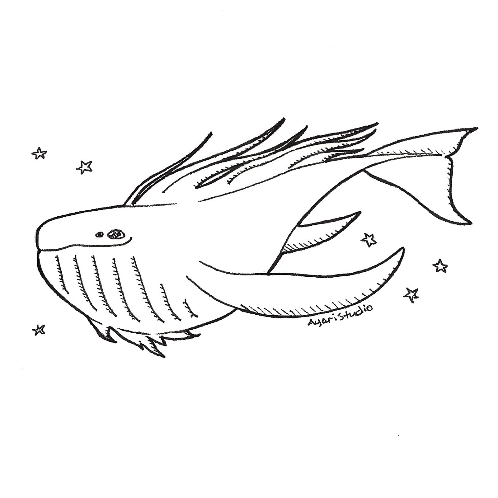 "Day 12 - ""Whale : Space Whale"""
