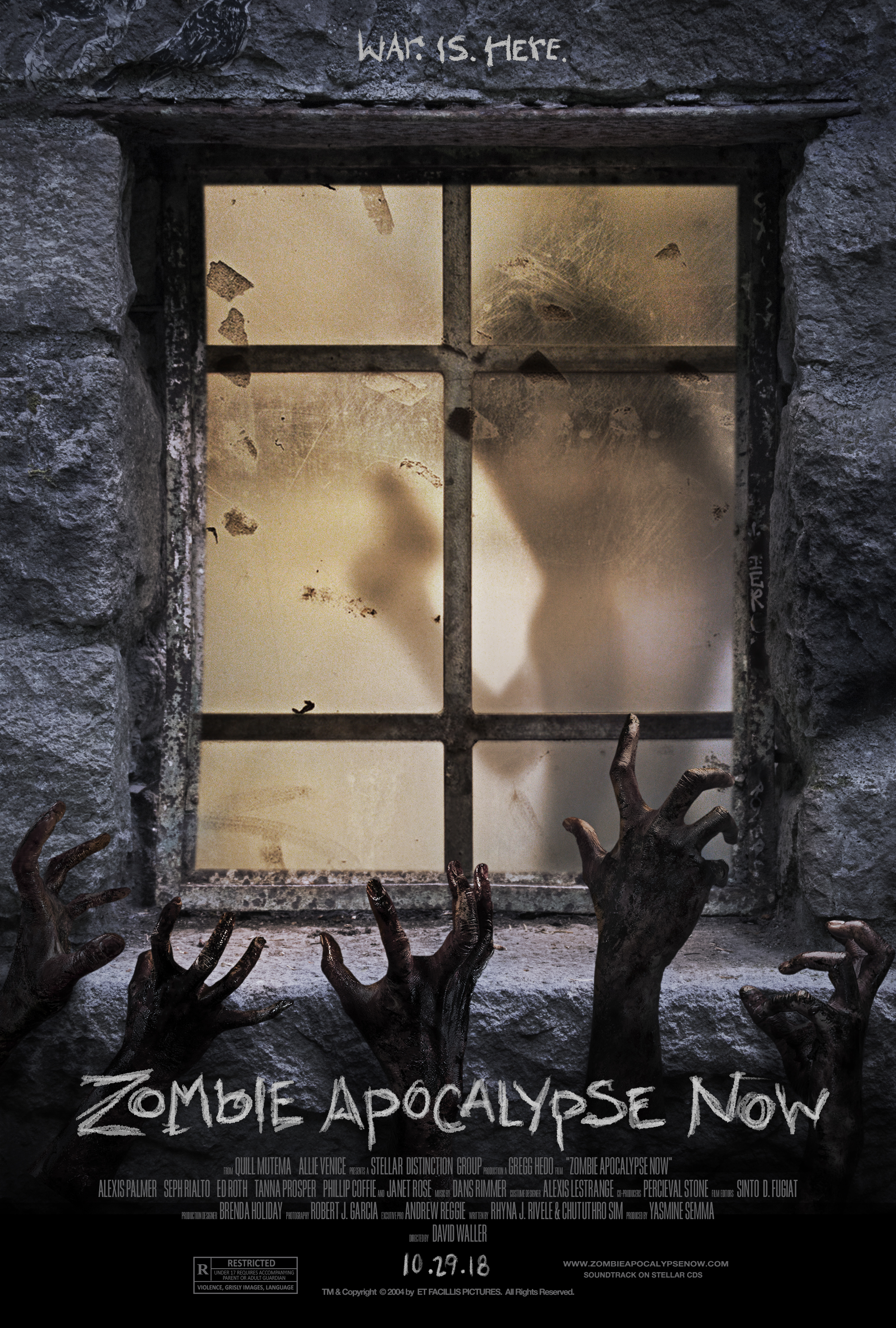 """""""Zombie Apocalypse Now"""" (Style 3)  3 of 3 variant movie posters September 2018"""