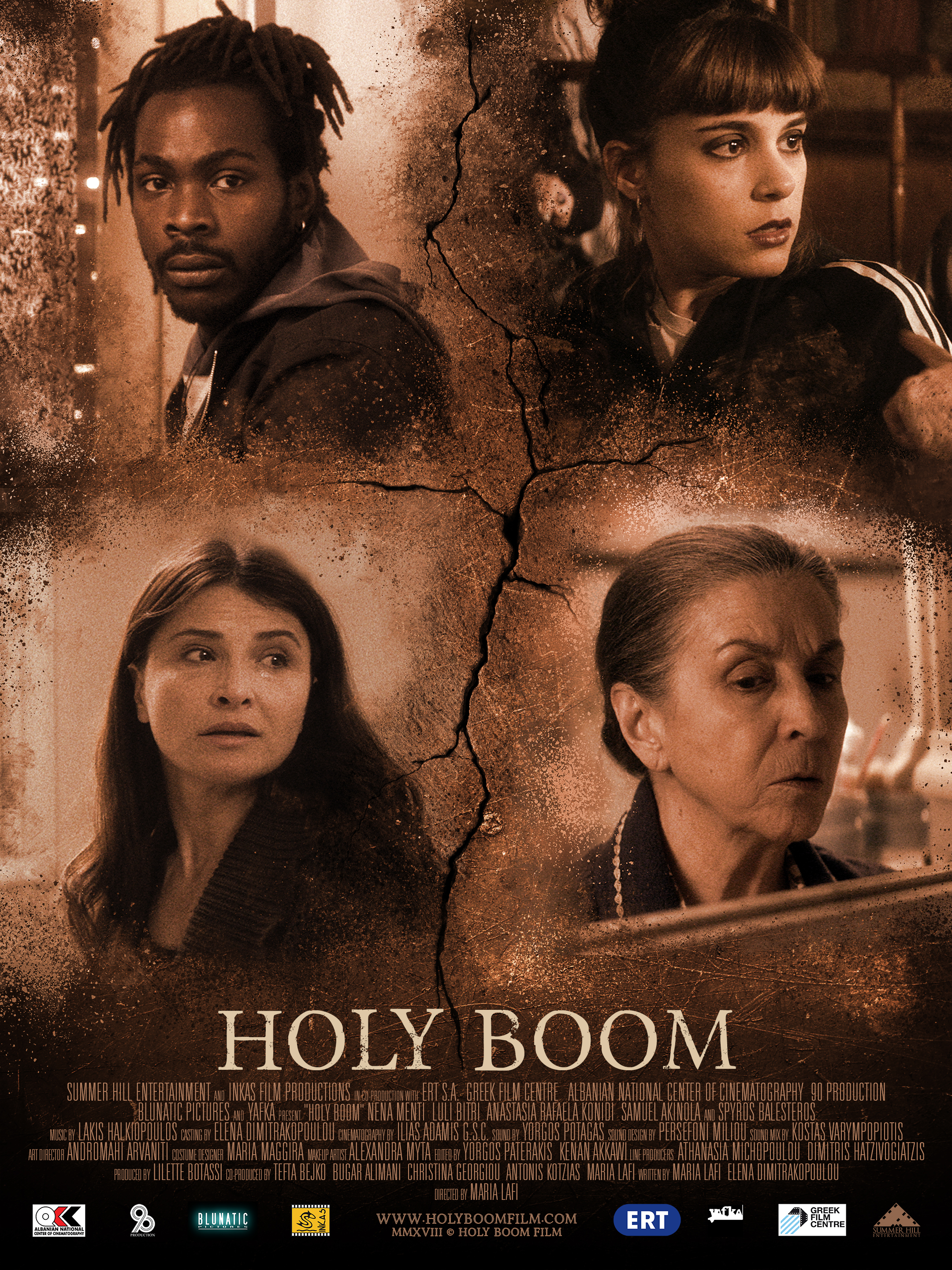 """""""Holy Boom"""" Movie poster for action/drama film  December 2018"""