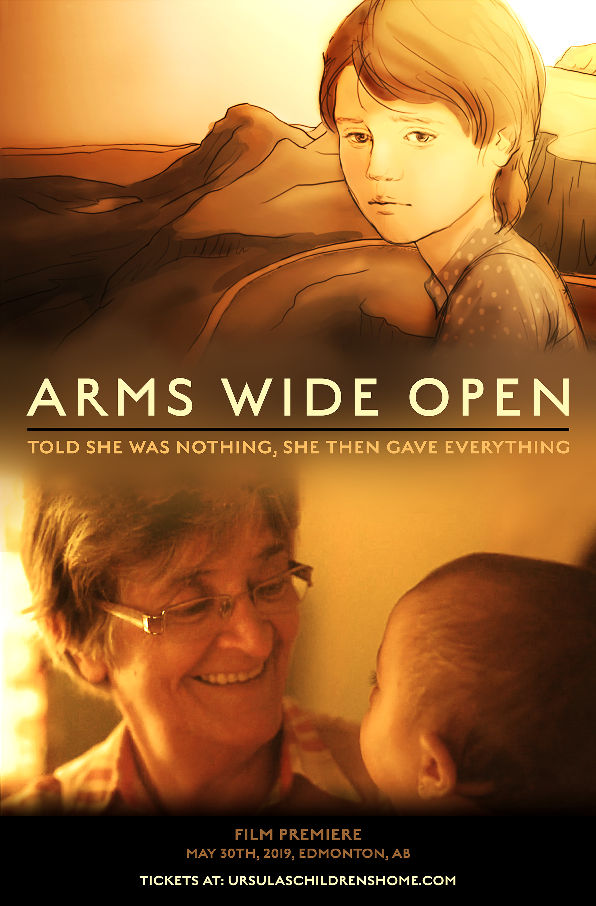 """""""Arms Wide Open"""" Movie poster for documentary film  March 2019"""