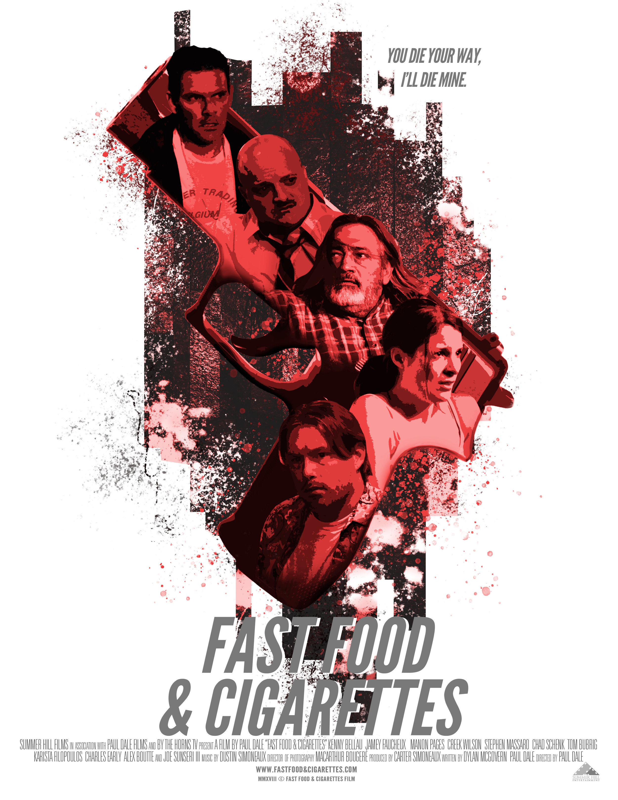 """""""Fast Food & Cigarettes"""" Movie poster for silent action film  May 2019"""