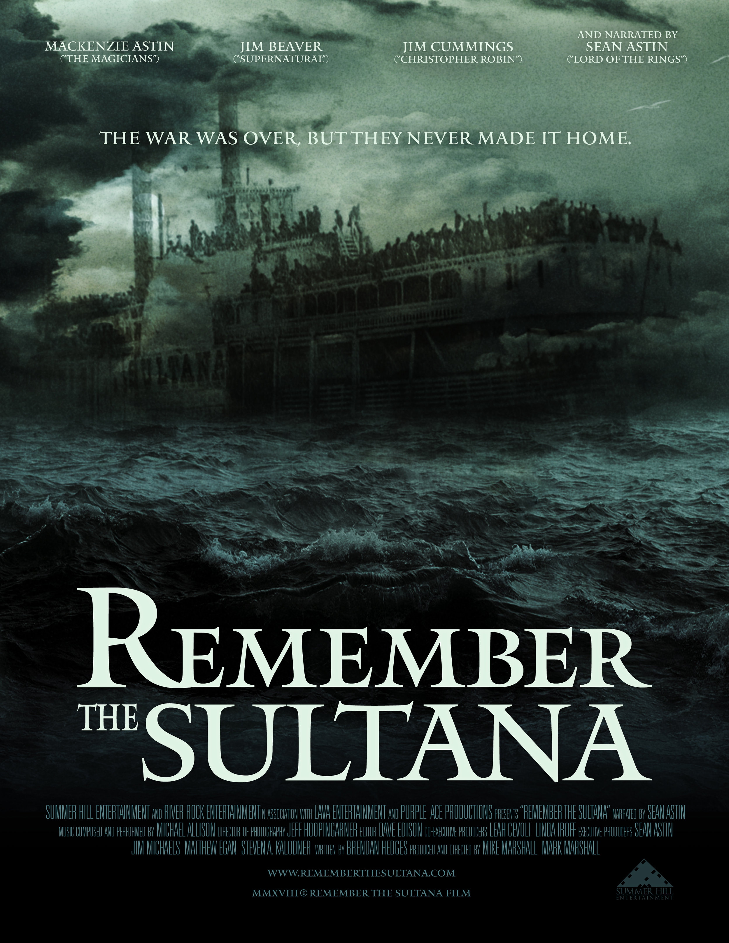 """""""Remember the Sultana"""" Movie poster for documentary film  May 2019"""