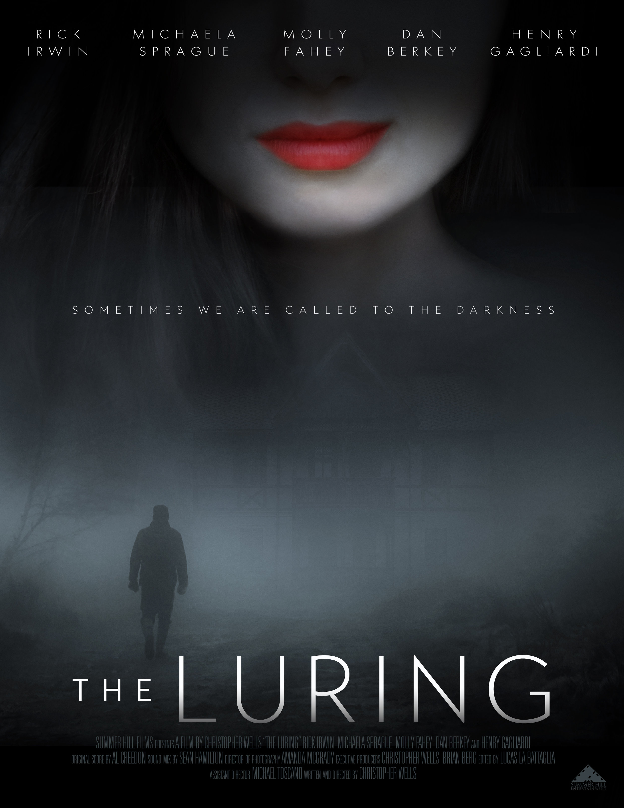 """""""The Luring"""" Movie poster for horror/suspense film  May 2019"""