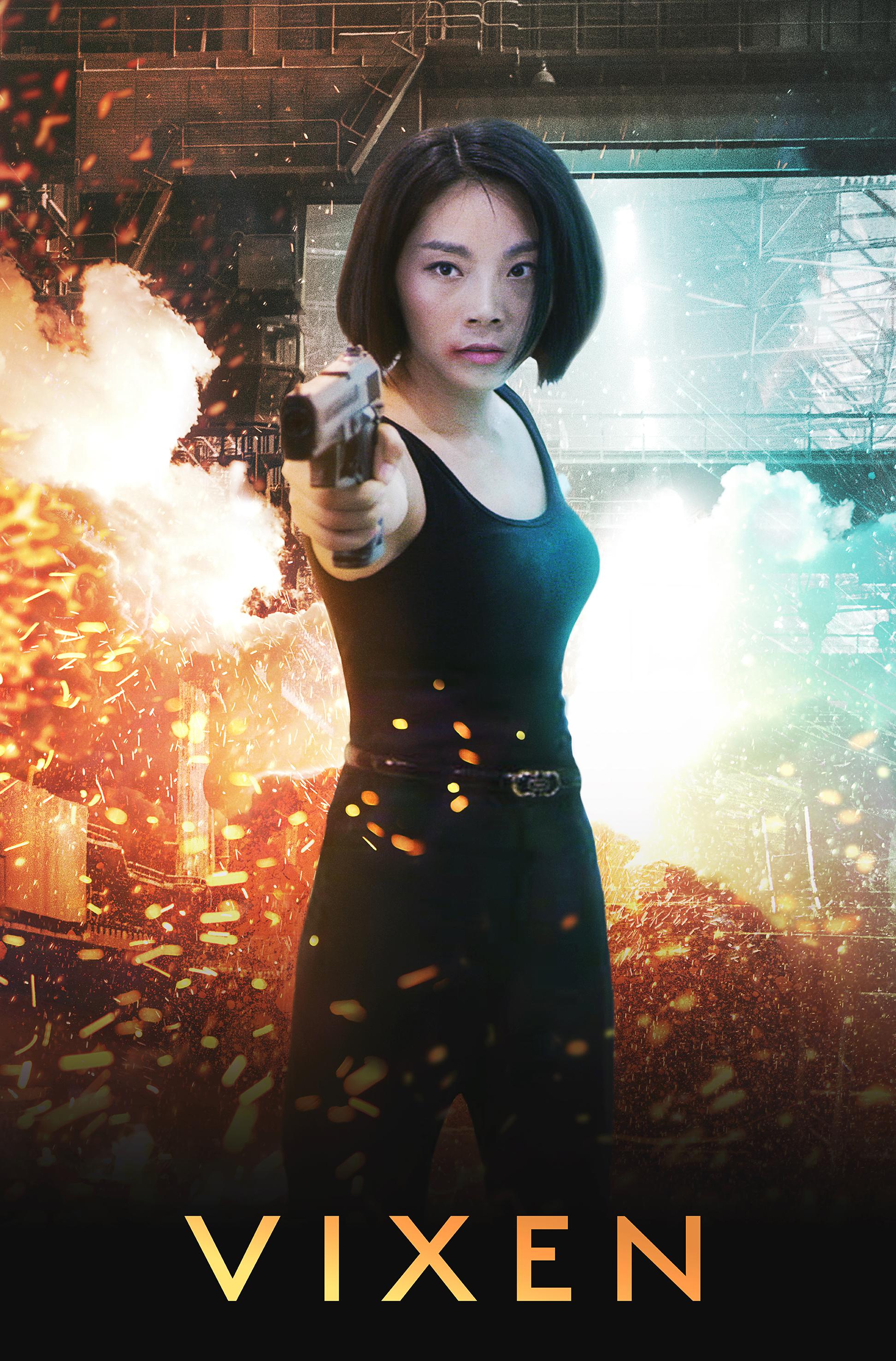 """""""Vixen""""  Key art for action movie poster April 2019"""