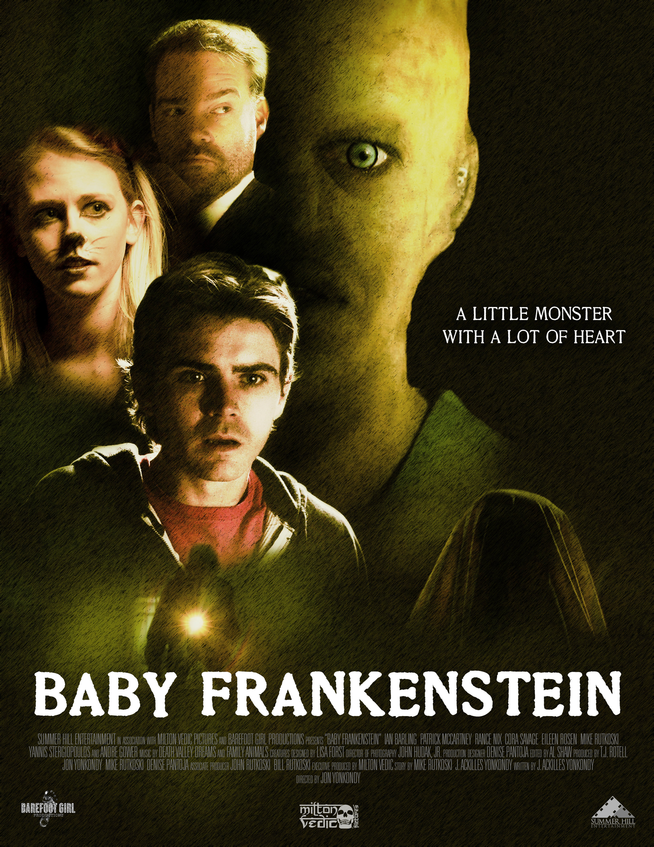 """""""Baby Frankenstein"""" Movie poster for family/monster film  June 2019"""