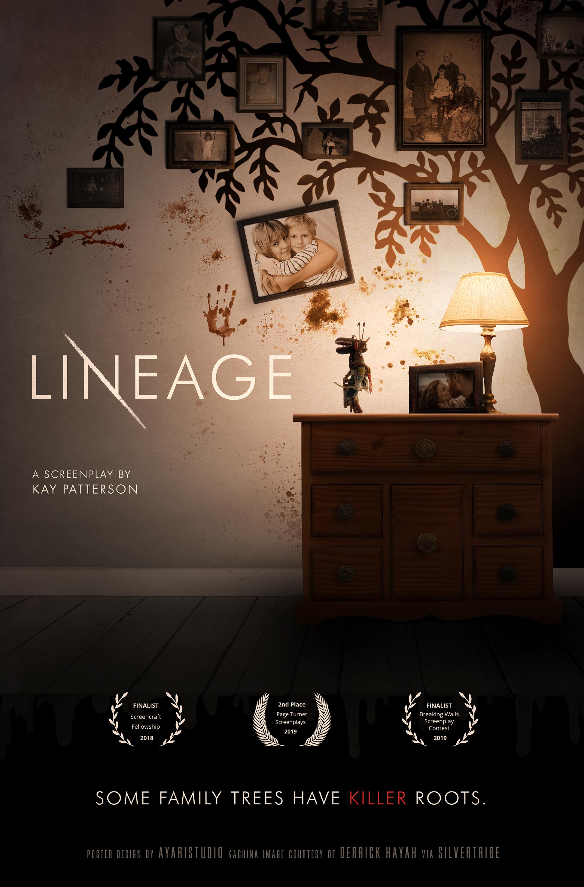 """Lineage""  Film script composite poster July 2019"