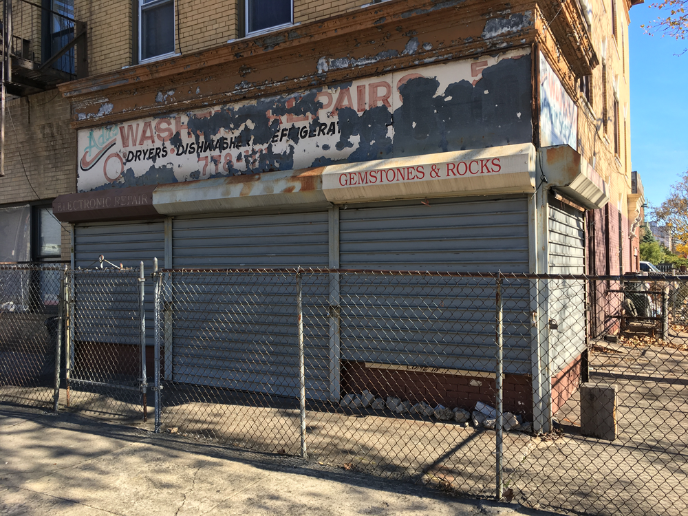 Winston Steill's former storefront studio/shop at 547 Rogers Avenue, brooklyn