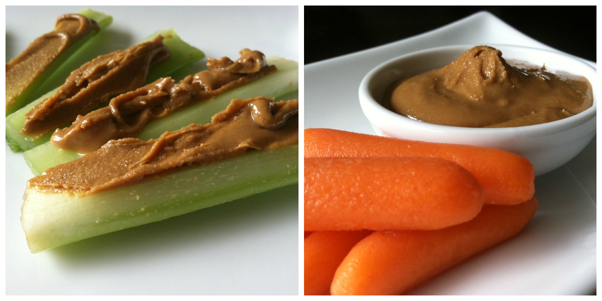 carrots-celery-almond-butter