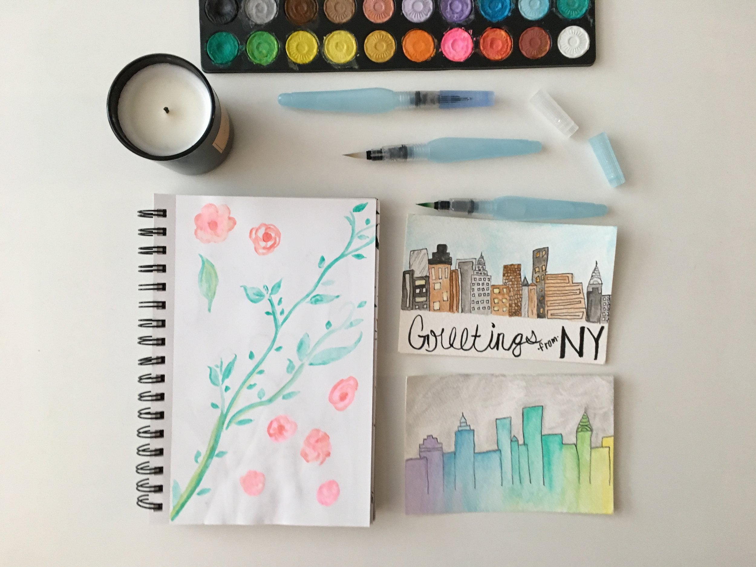 """Water Color Brush Pens   Fill these pens with water and use to paint with watercolors. The ease and mess avoidance that these brushes offer has given me another medium through which to """"doodle""""."""