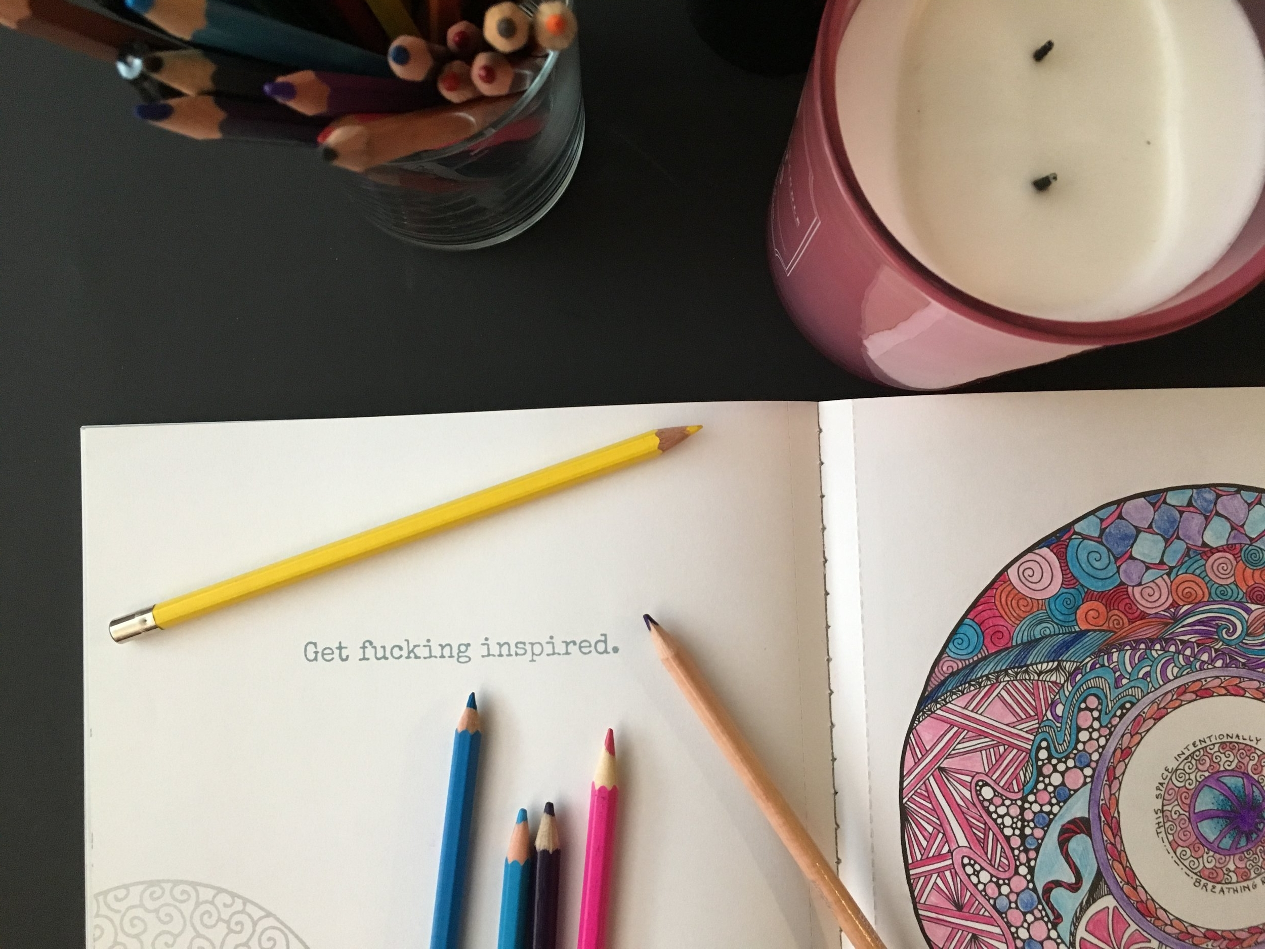 Text: Get fucking inspired. (left)