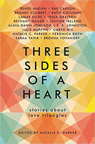 Three Sides of a Heart   December 19th  Young Adult Short Stories  As tired as love triangle stories are (especially in YA) they exist because as much as we hate them we also love them. Short story compilations are great to read around the holidays. I also love the idea of getting a taste of several YA authors writing, who I wouldn't normally read, in one book.