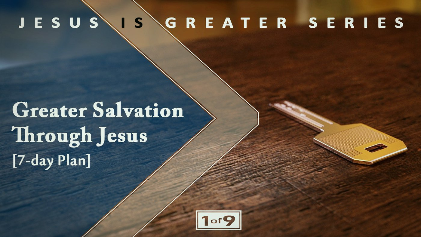 Plan 1: Greater Salvation Through Jesus  Jesus – Is there anyone greater? NO! This is Part One of Nine devotional plans walking us through the Book of Hebrews. This first part sets the stage of Jesus' Greatness and shows what sets Him apart. God's people faced a tough choice – follow Jesus and lose everything, or go back. Is following Jesus worth losing so much? We find ourselves asking – and responding – to the same question today.