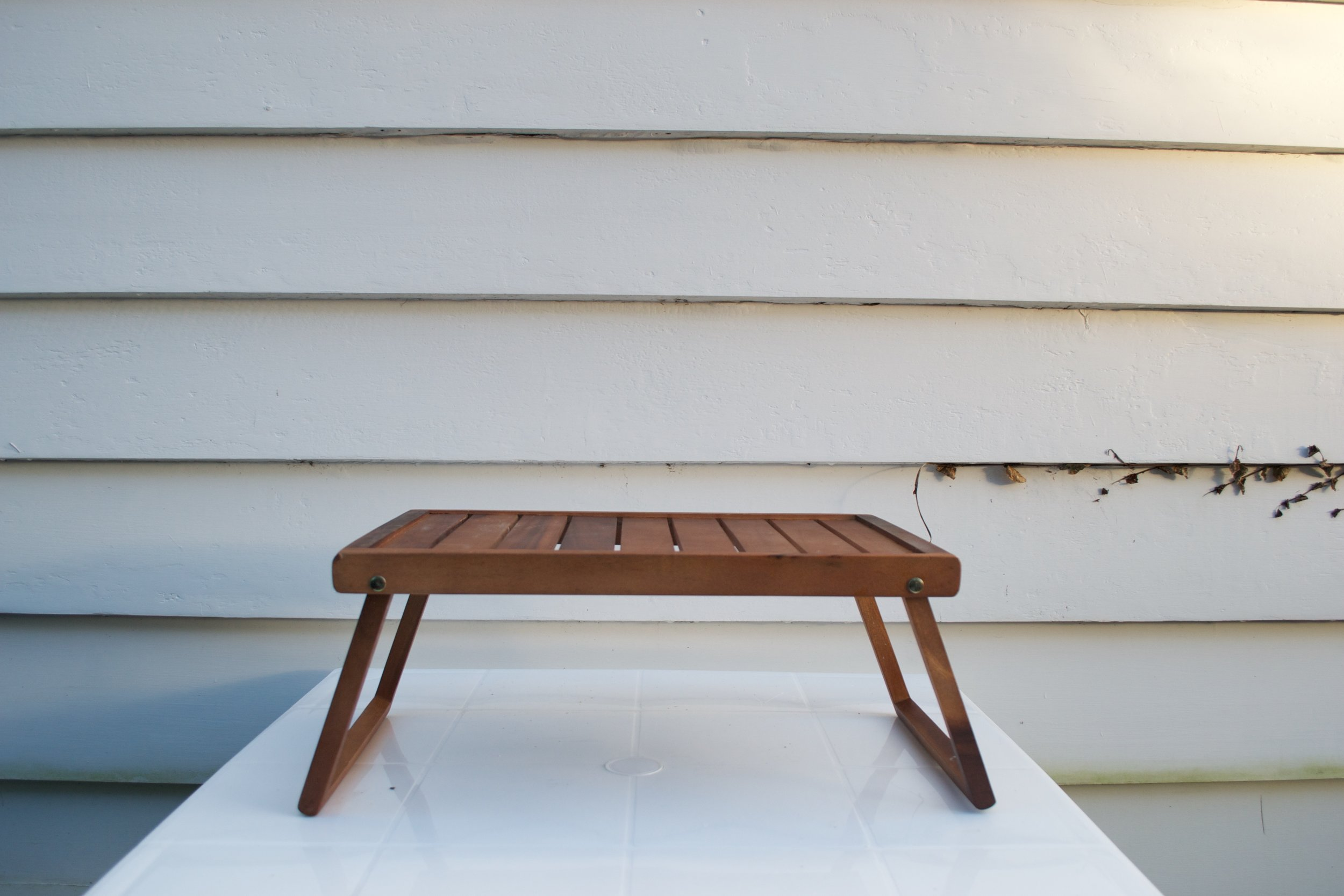 wooden stand x1 $15