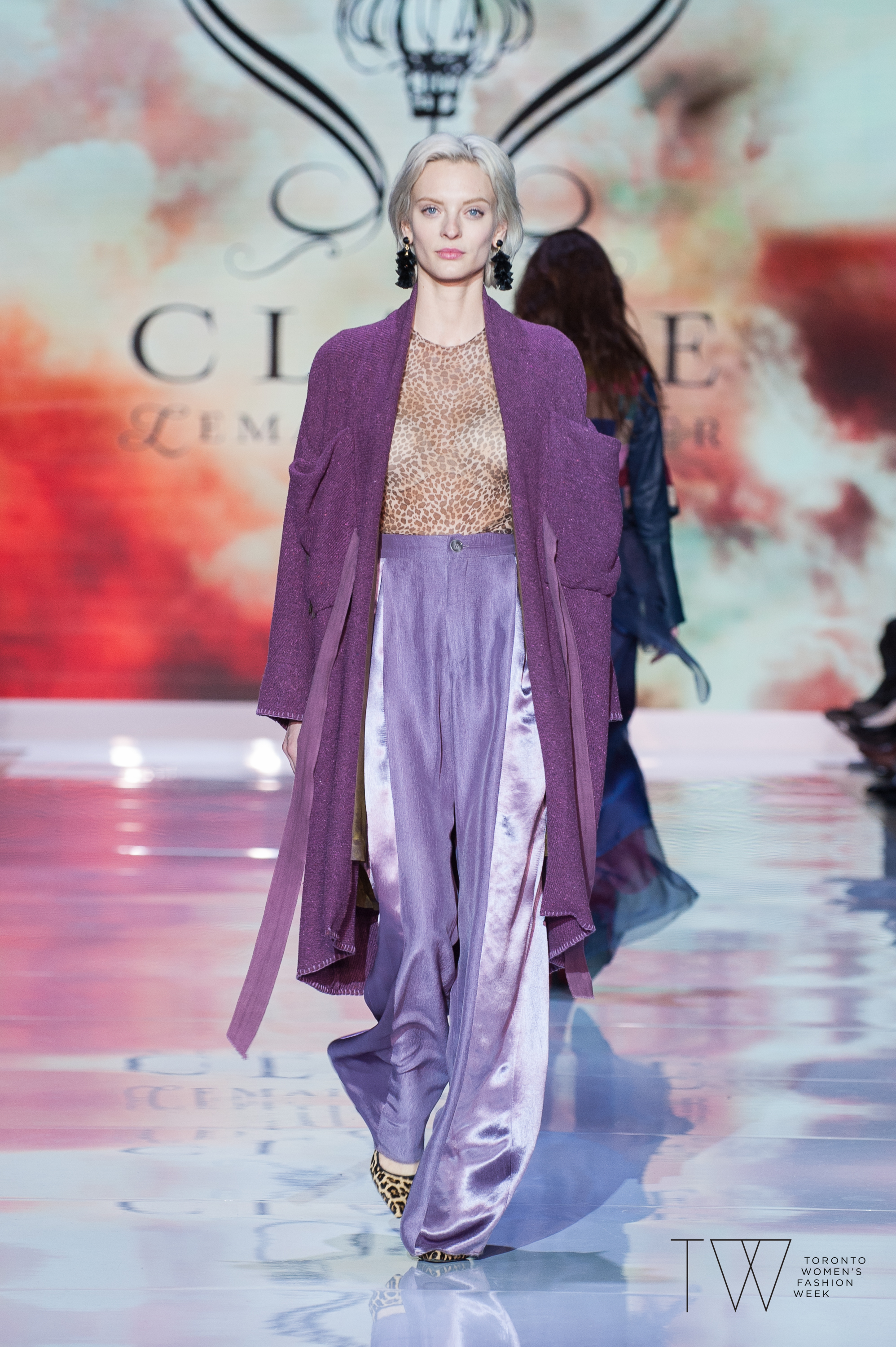 Claire Lemaitre Auger image courtesy of Toronto Women's Fashion Week