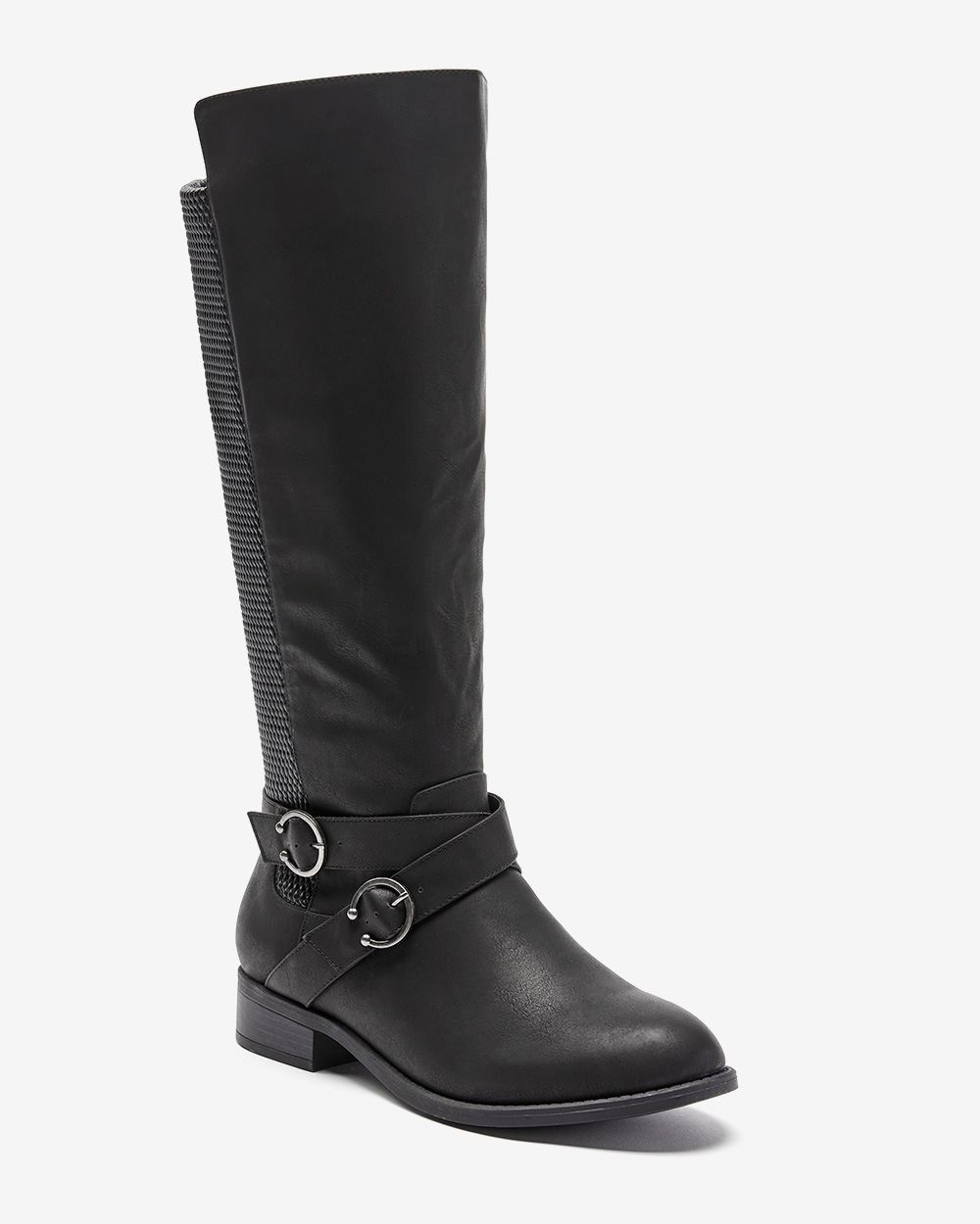 Buckle Boot With Elastic Back - Addition Elle ($119 CAD)