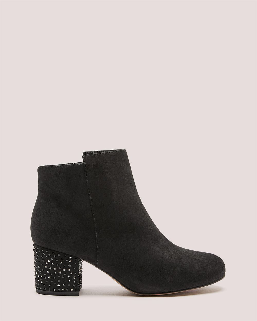 Rhinestone Heel Bootie - Addition Elle ($99 CAD)
