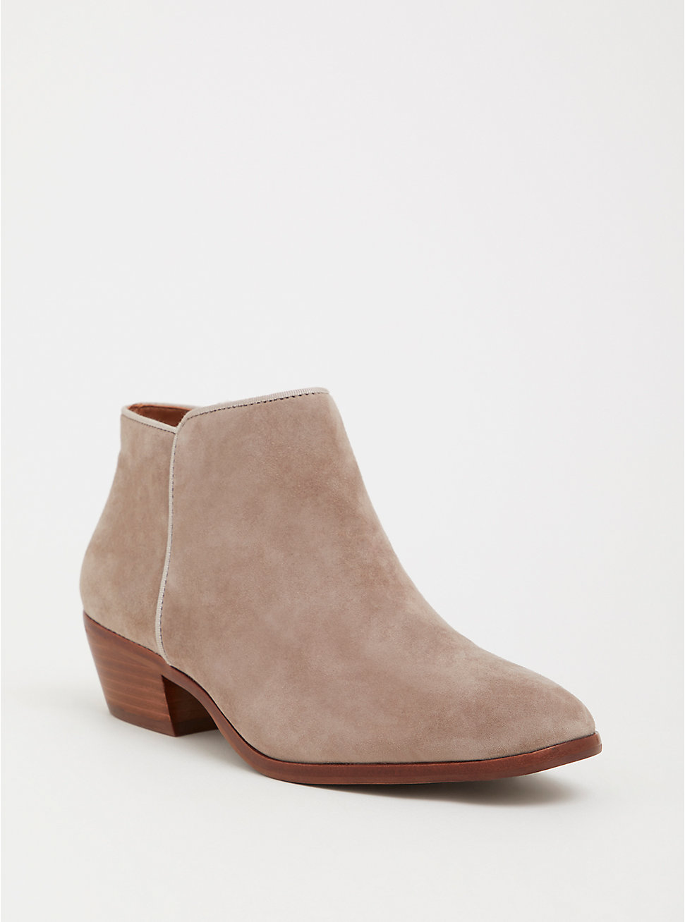 Tan Faux Suede Ankle Bootie - Sam Edelman available at Torrid ($120)