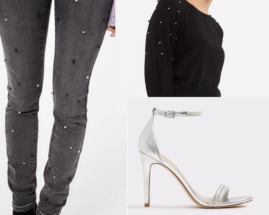 Sweater:  Reitmans  $59.90 CAD  Jeans:  Reitmans  $74.90 CAD  Sandals:  Aldo  $45 CAD