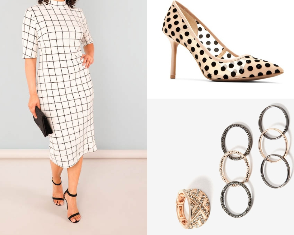 Dress:  Shein  $33 CAD  Shoes:  Katy Perry Collection  $121.98 USD  Rings:  Addition Elle  $16 CAD