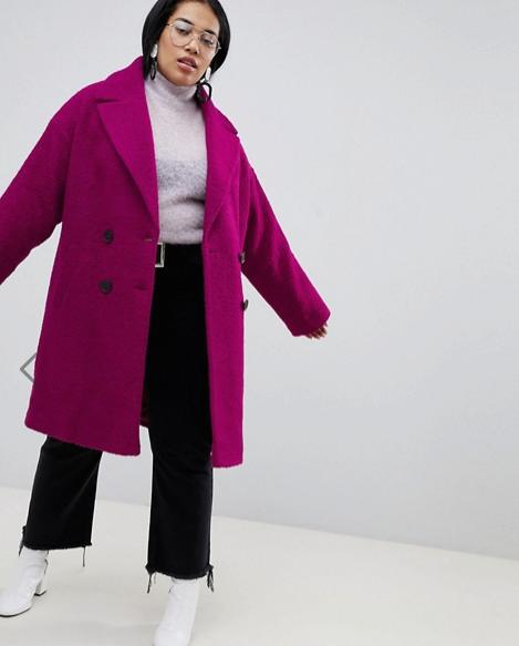 Asos Curve Woolen Coat - $167 CAD