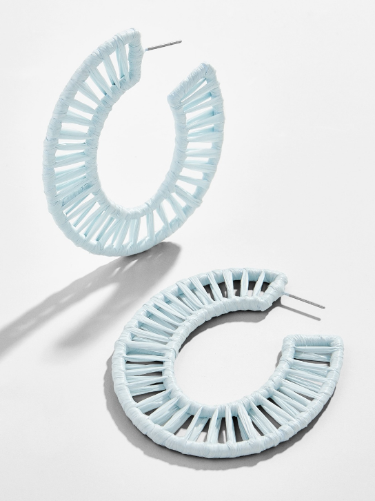 Bauble Bar - Rahima Raffia Hoop Earrings ($38 CAD)