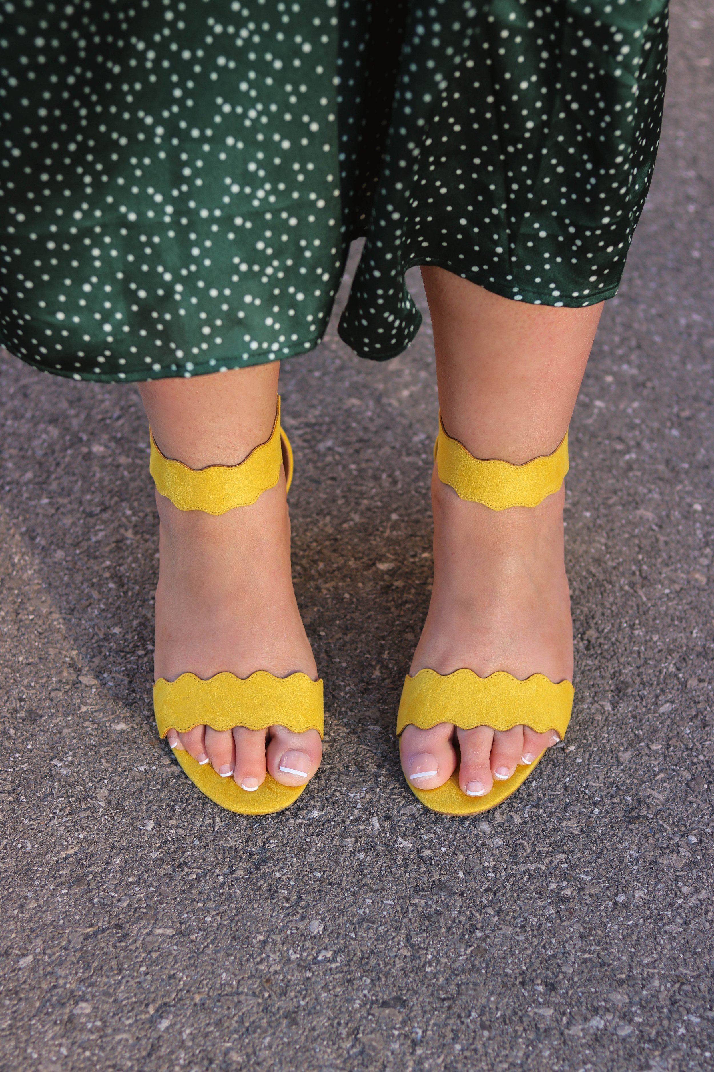 Yellow sandals plus size fashion addition elle wide fit shoes - Sara Sohail (The Prep Gal)