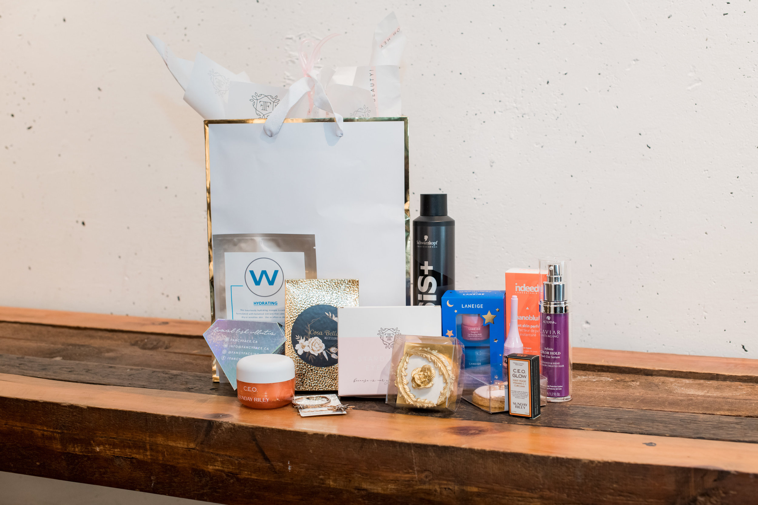 Some of the products from the Masterclass Gift Bags