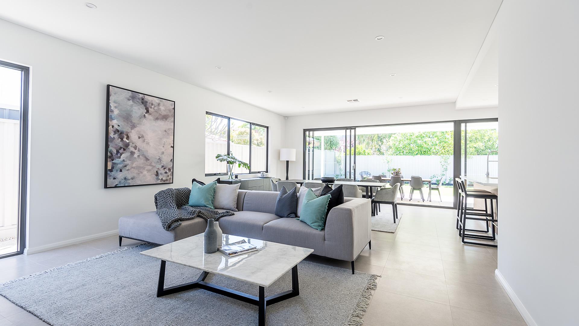 perth builder contemporary living area