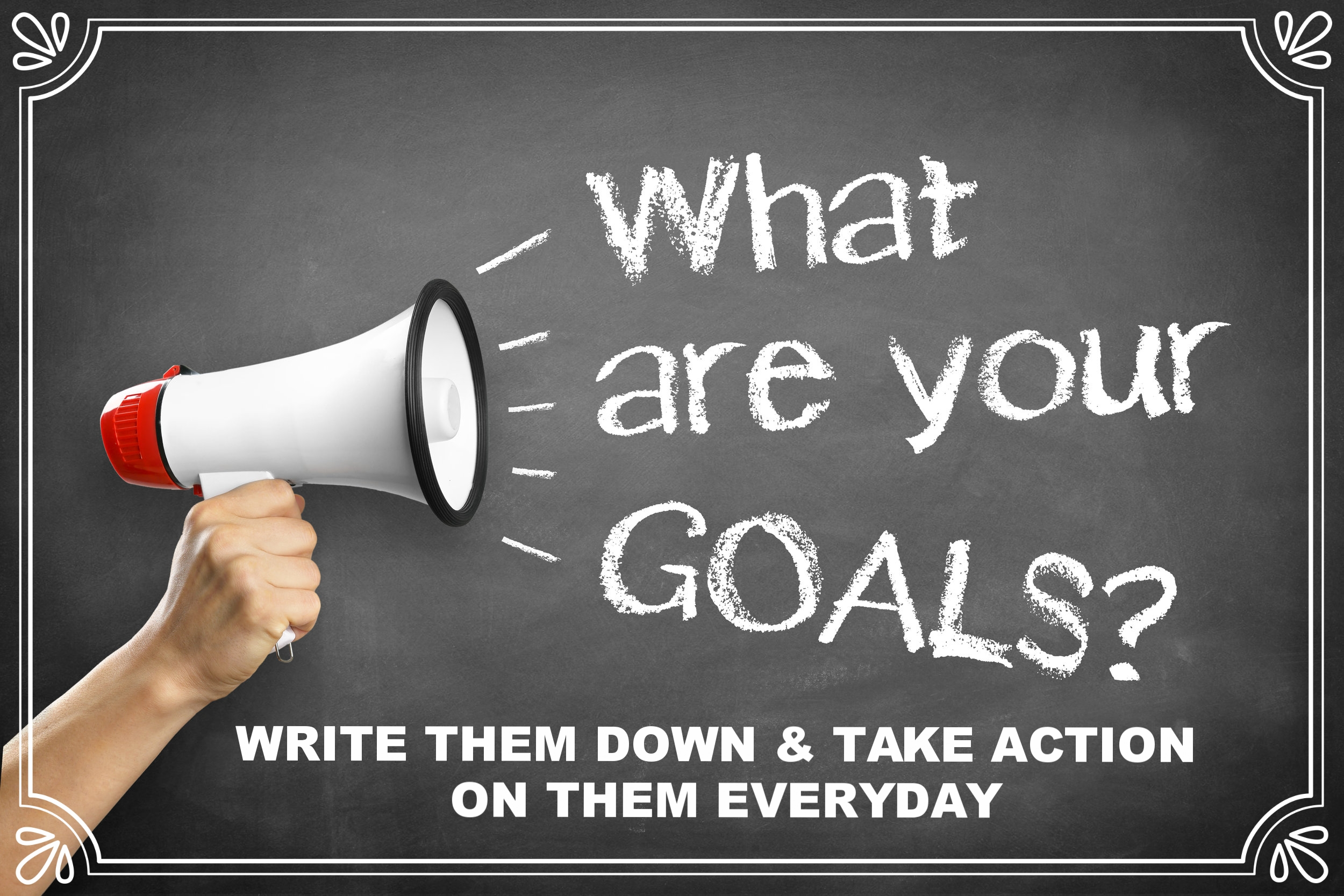 A Dream without a Goal is just a dream...              Write down your goals!